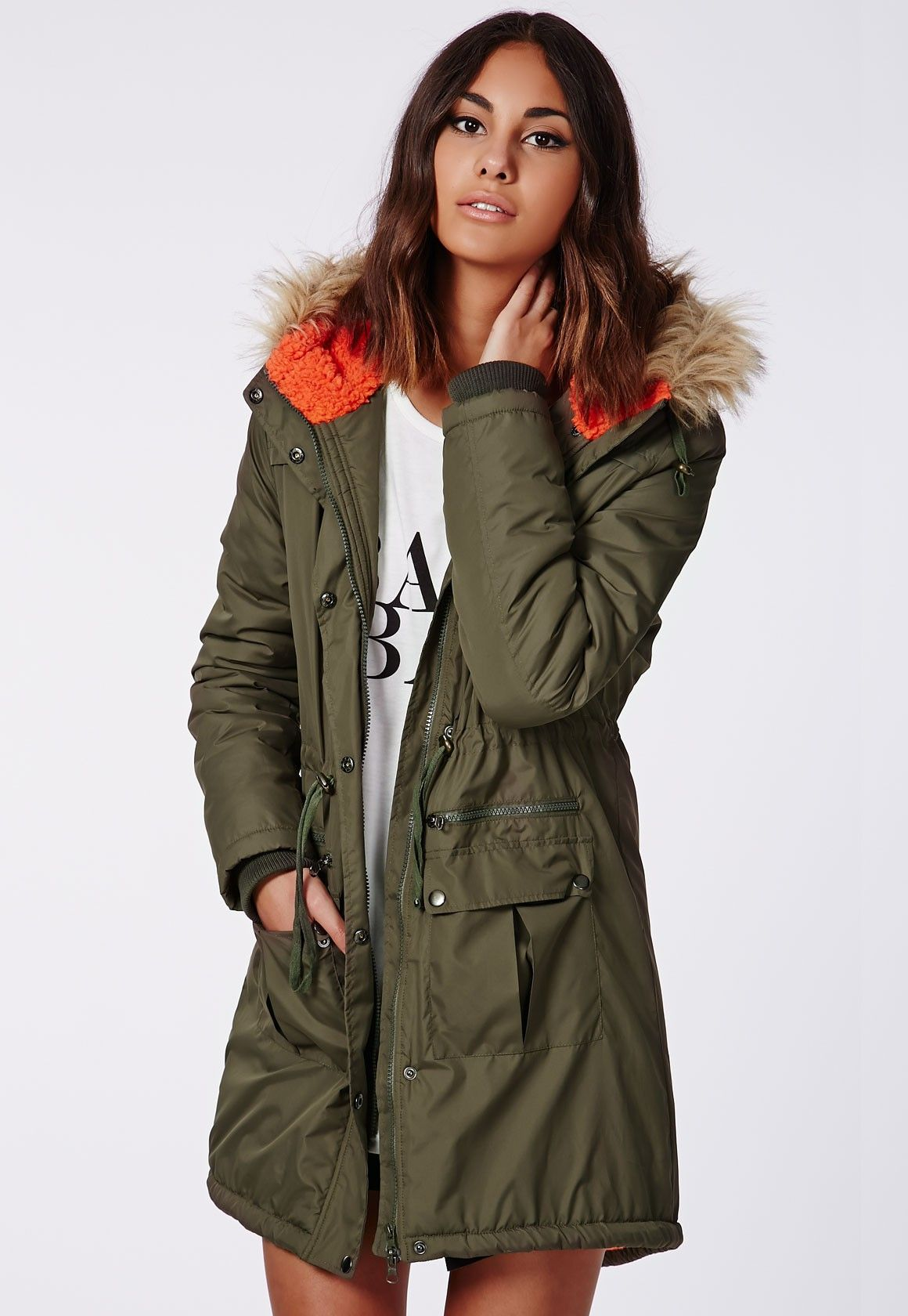Billie Parka Coat Khaki - Coats & Jackets - Missguided | Clothing ...