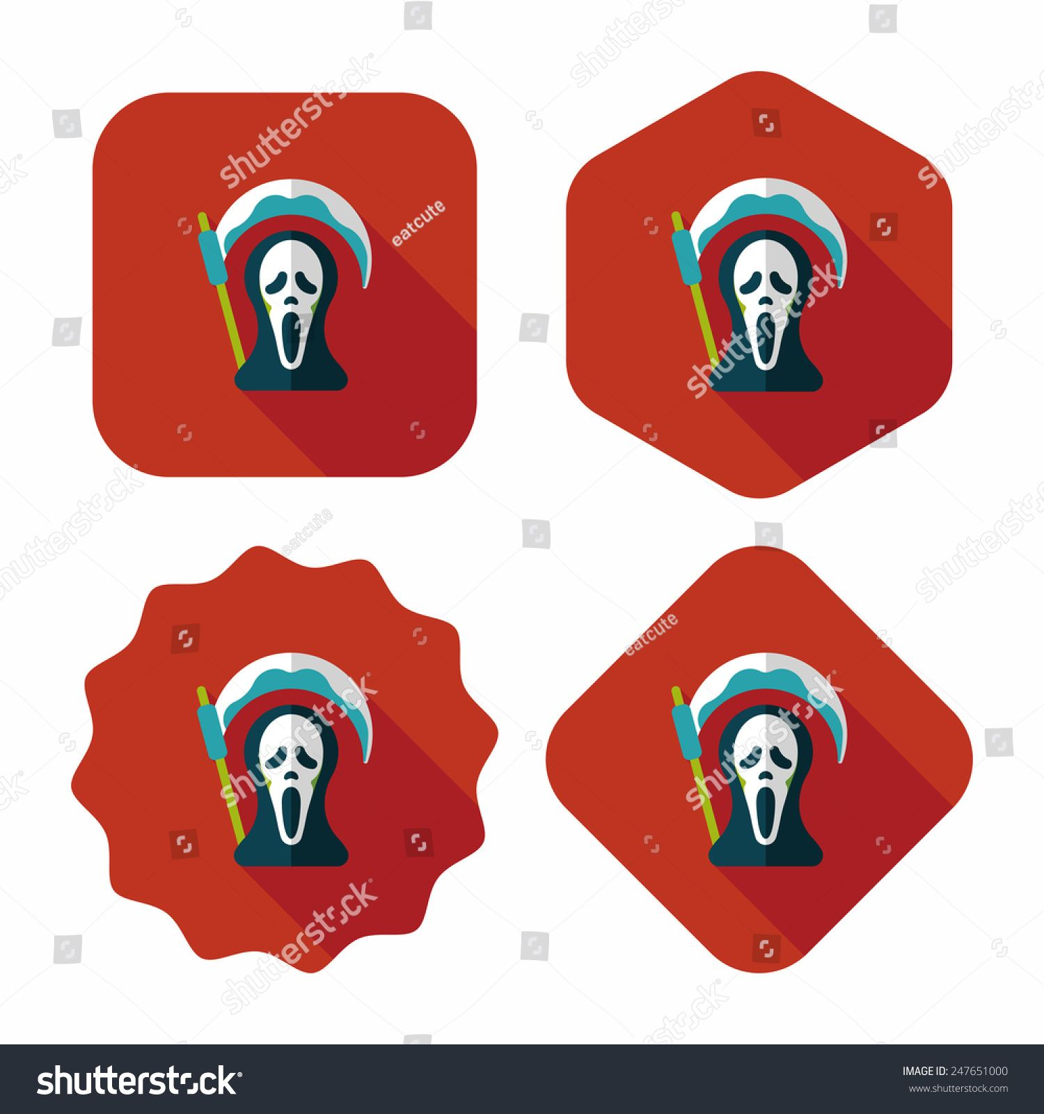 Grim Reaper flat icon with long shadow,eps10 #Ad , #Sponsored, #flat#Reaper#Grim#icon