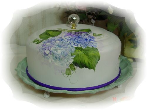 hand painted hydrangea vintage cake carrier  sc 1 st  Pinterest & hand painted hydrangea vintage cake carrier | vintagetochic.etsy ...