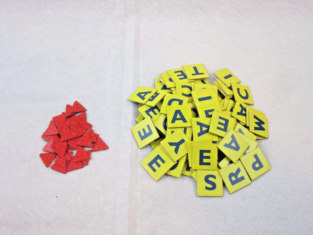 scrabble junior game replacement letter tiles scoring chips parts