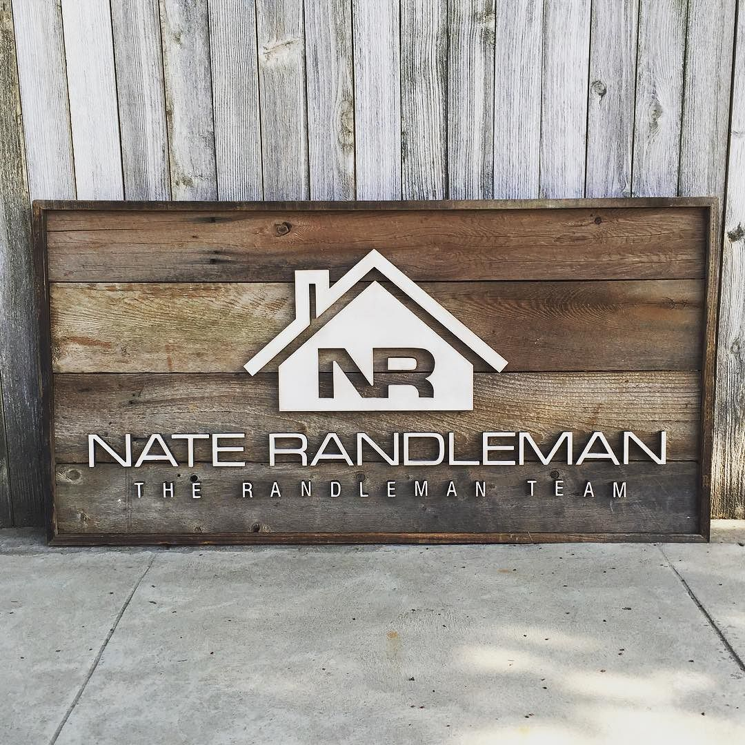 Reclaimed Wood Signs: Another Logo Sign. I Love Seeing Logos Transformed Onto
