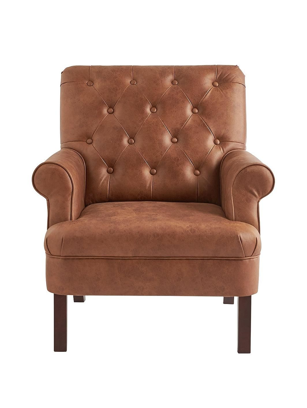 Kit Faux Leather Accent Chair in 2020 Tan leather