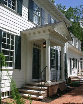Stunning Front Door Ideas Add A Portico 20 Gorgeous Entryways The Well Appointed House Blog Living Portico Design Front Porch Design Colonial Front Door