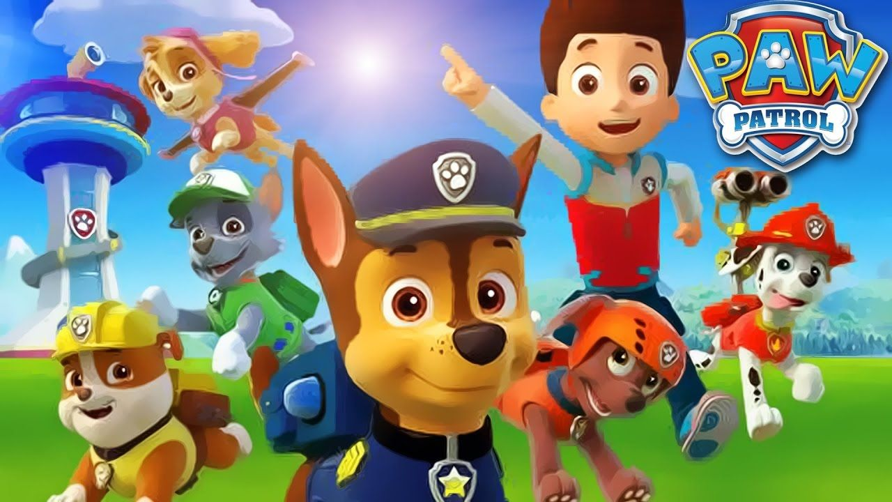 Heres A Full Episode Of Paw Patrol Cartoon With Paws Playing Different Games The Police