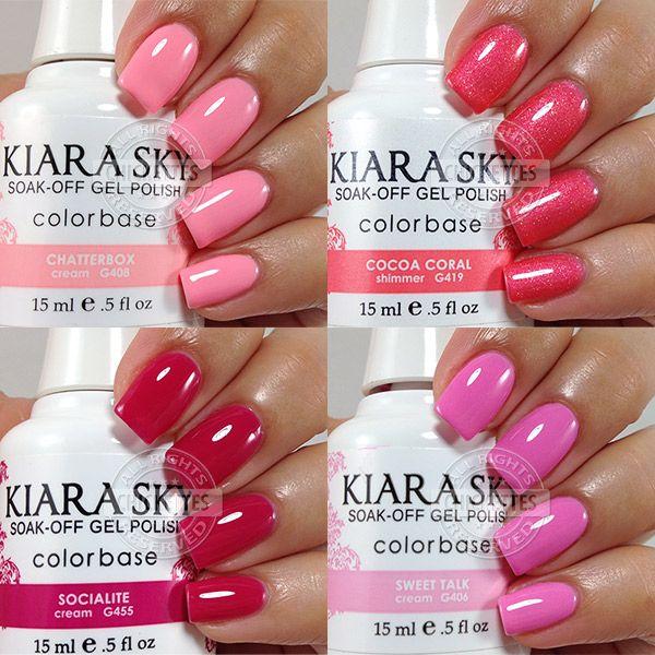 Kiara Sky Gel Polish Swatches - Pink & Coral | Nails | Pinterest ...