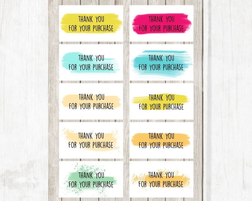 Thank You Cards | Thank You For Purchase Business Cards ...