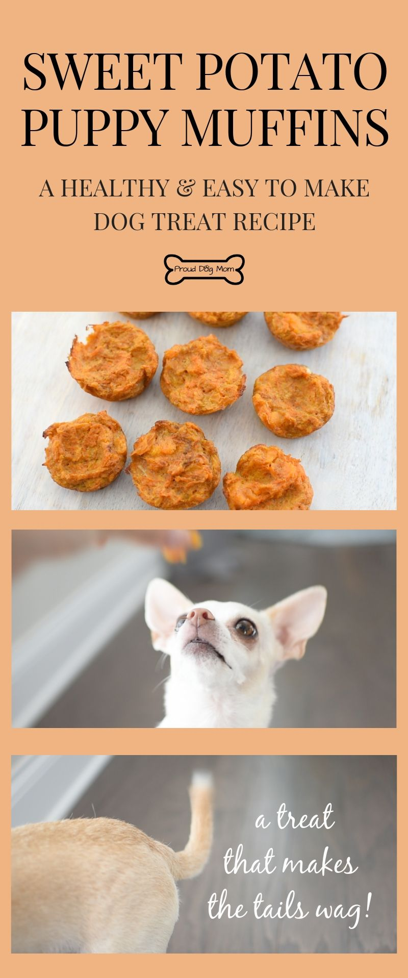 Sweet Potato Puppy Muffins Recipe Proud Dog Mom Dog Treats