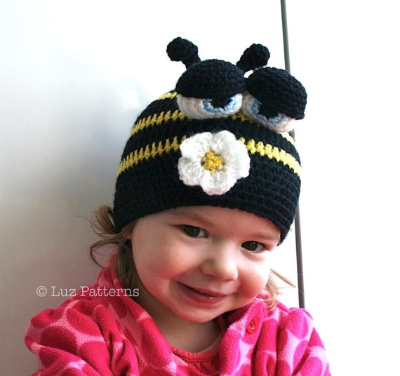 Crochet hat pattern, crochet baby busy bee hat pattern, crochet ...