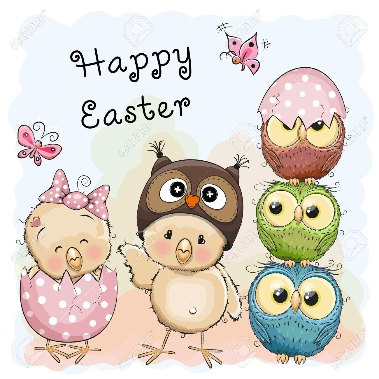 Idea by Brookie Hibbard ღ on Owls | Owl cartoon, Easter ...