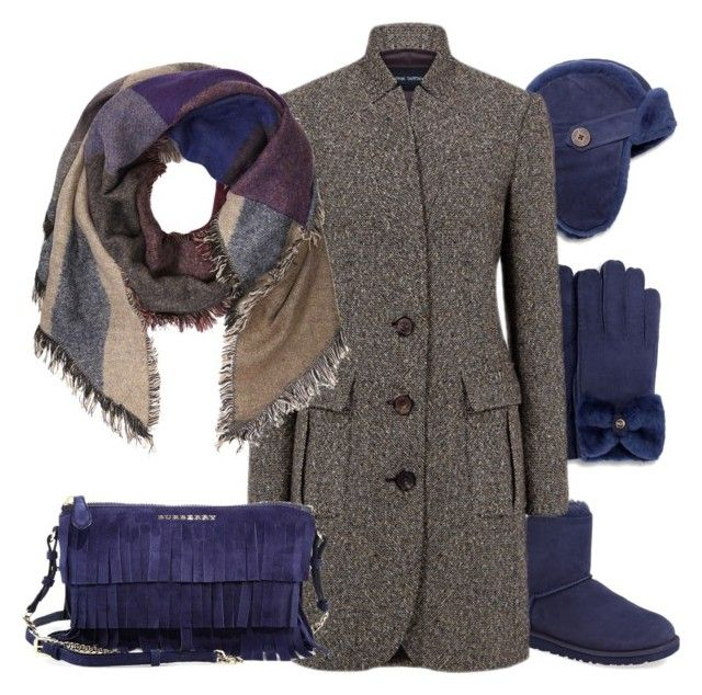 """""""Blue"""" by borsebyd ❤ liked on Polyvore featuring UGG Australia, Pink Tartan, Dorothy Perkins and Burberry"""