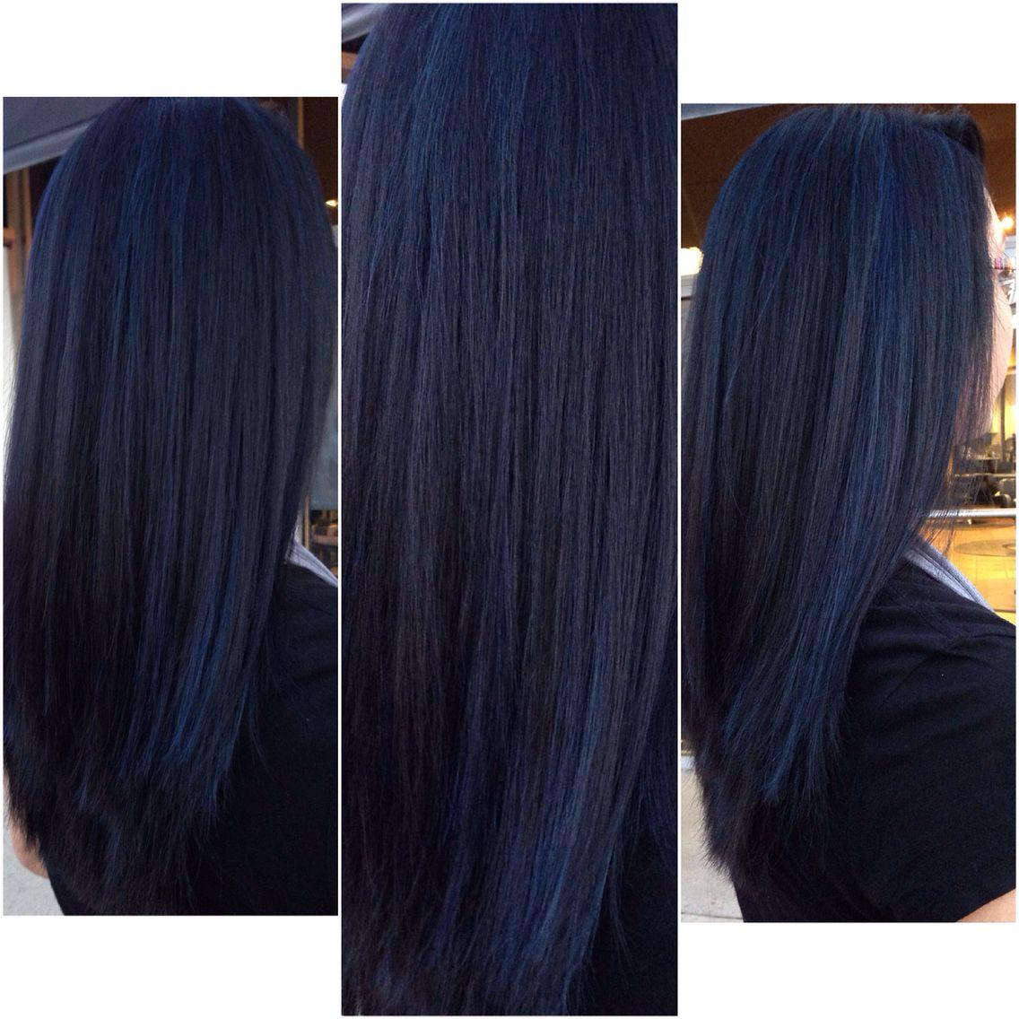 Sapphire Blue Black Hair Personal Work Pinterest