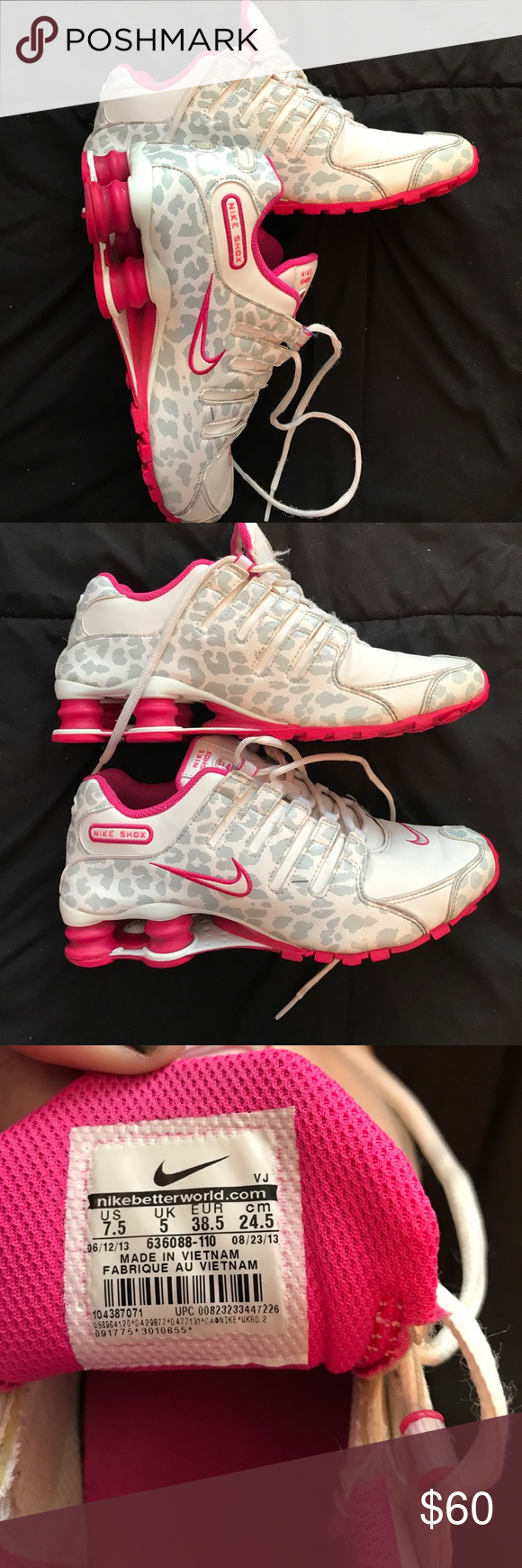 00839ed0611d62 ... Pink Leopard Nike Shox Very Rare