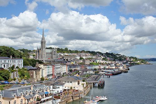 Cobh, County Cork formerly called Queenstown, the last port of call for the Titanic before her fatal journey, and from where Annie Moore, the first emigrant to enter the US through Ellis Island, left Ireland.  Image Credit:  http://www.flickr.com/photos/shaunpierre/5083932868/in/photostream/