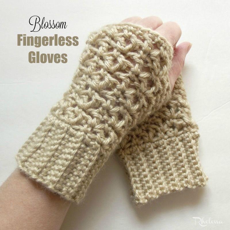 Free crochet pattern for the Blossom Fingerless Gloves. These gloves ...