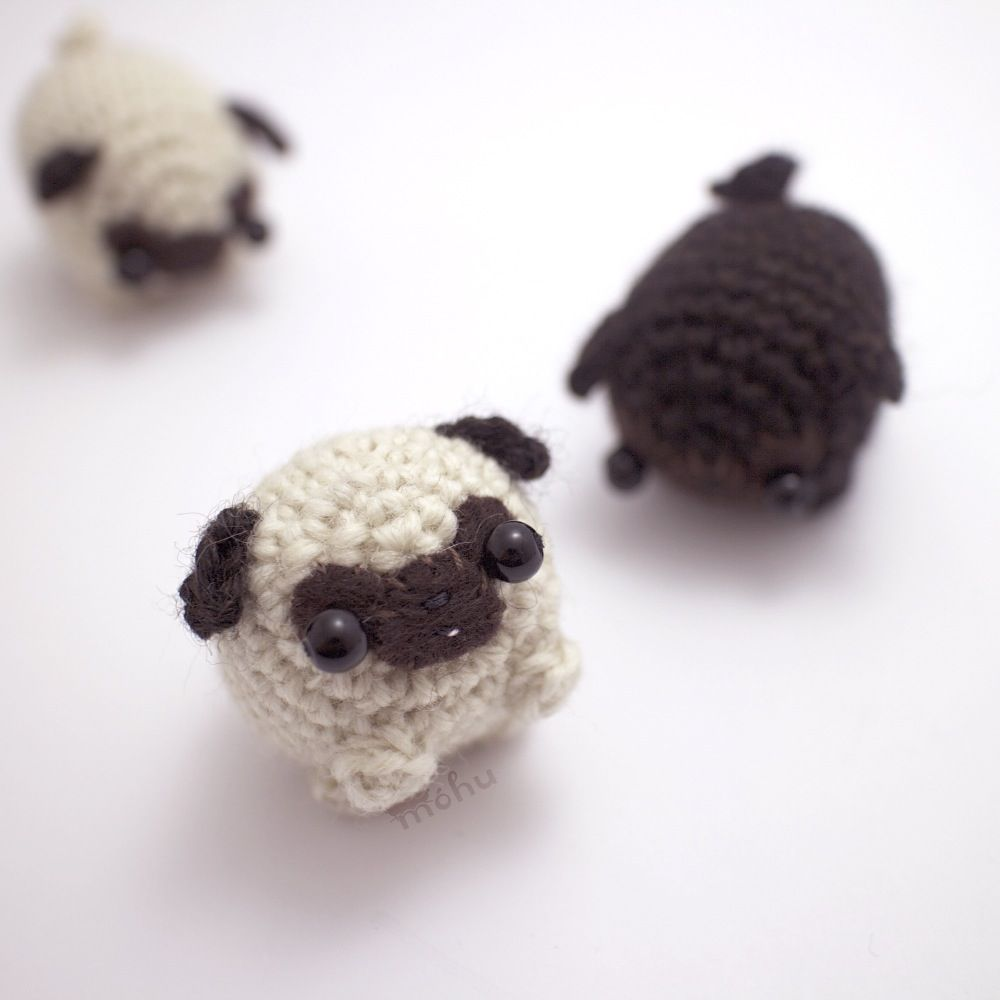 Knitted Pug Pattern : Crochet pattern - amigurumi pug dog Amigurumi, Filing and Crochet