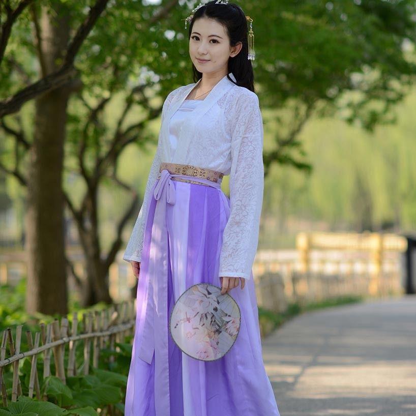 838d2fb19 White Hanfu Dress,Double-breasted Purple Ruqun,Chinese Hanfu Dress ...