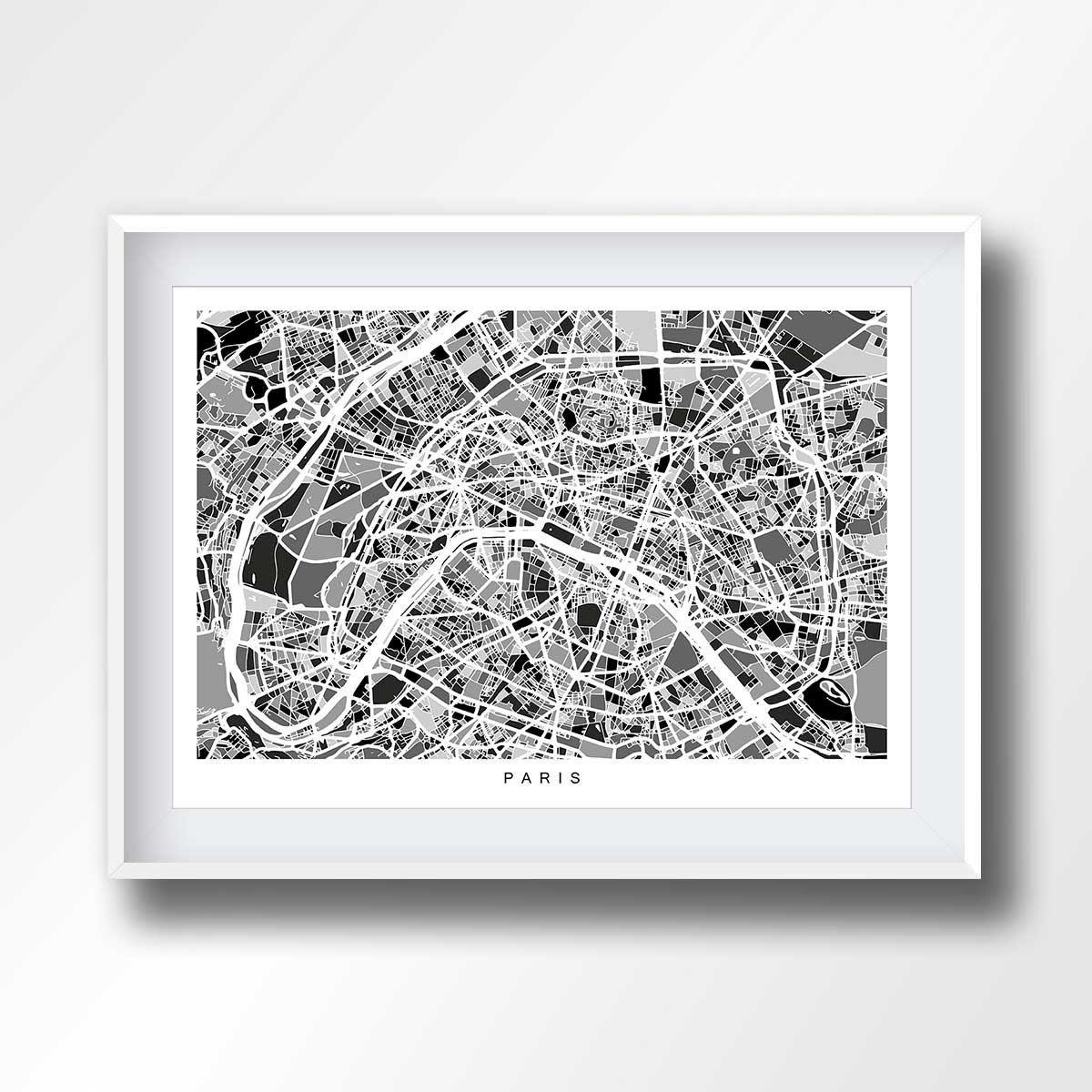Paris Map Black And White.Paris Map Black And White Map Of Paris Paris Printable Paris