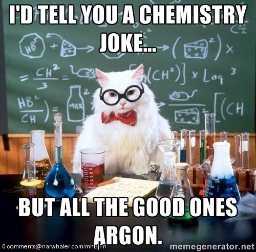 22 Majestically Nerdy Tumblr Puns Science jokes, Periodic table - best of periodic table puns