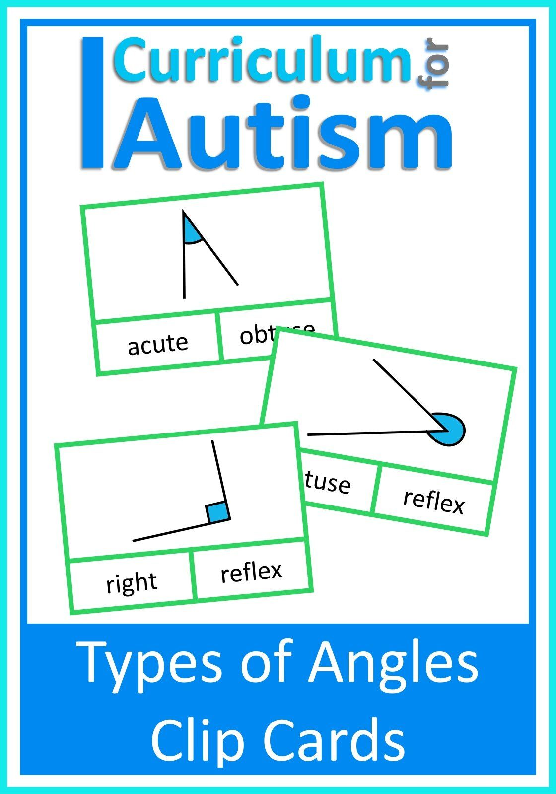 Naming Types Of Angles Clip Cards