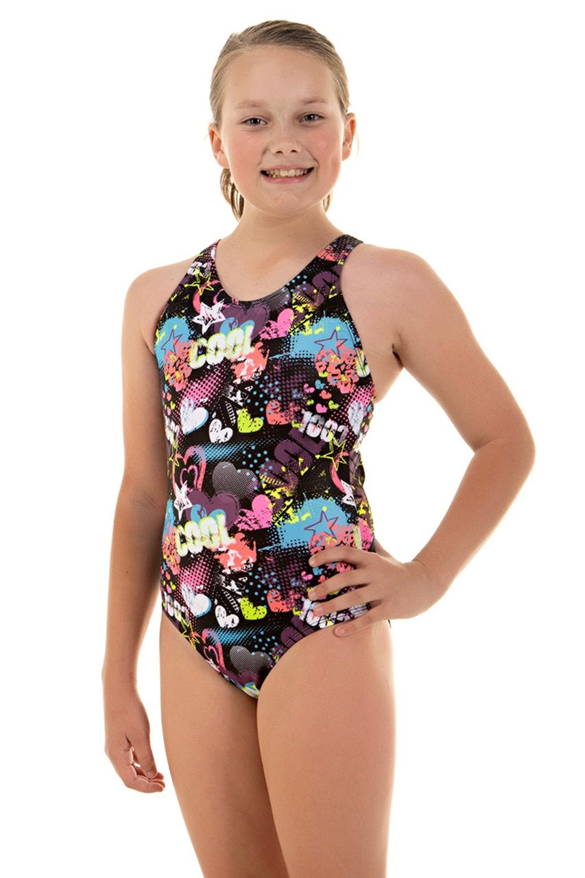 a865bf397ed Girls Sport Back Cool One Piece Chlorine Resistant Swimsuit | Ladies ...