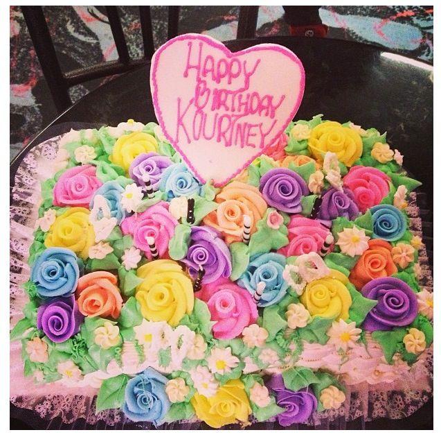Peachy Birthday Cake Ideas Kourtney Kardashians Birthday Cake With Funny Birthday Cards Online Fluifree Goldxyz