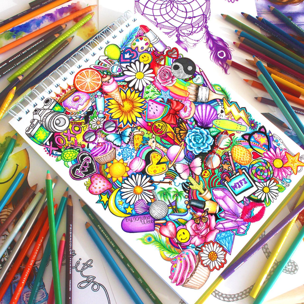 Colour Me Creative Full Doodle Drawing