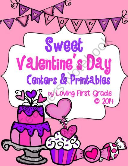 Sweet Valentines Day Centers and Printables from Loving First ...