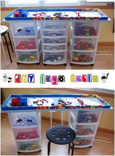 The ultimate guide to lego storage lego storage lego and storage diy lego table solutioingenieria Image collections