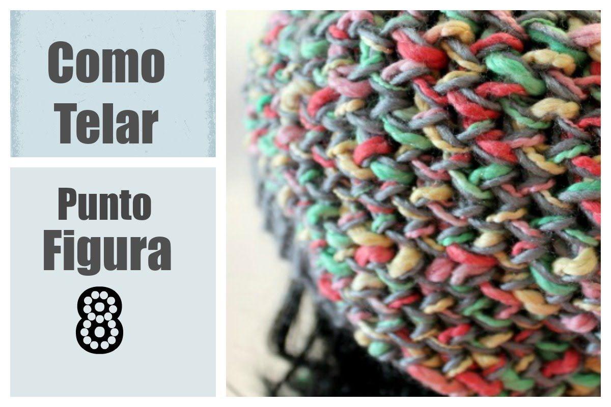 PUNTADO Figura 8 en Telar Redondo - Figure 8 Stitch in Spanish ...