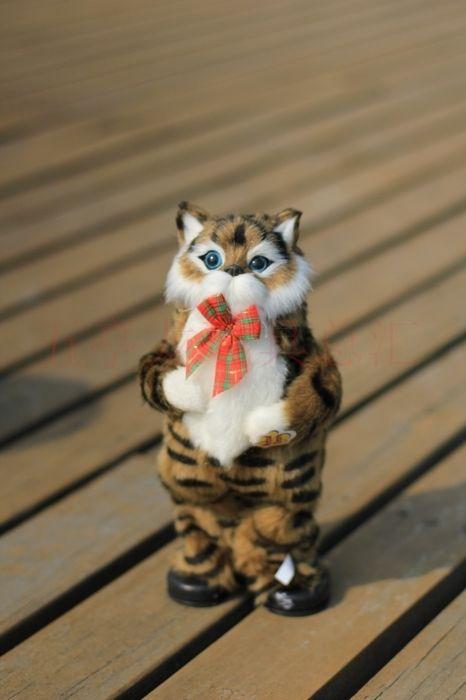 Bonito Simulacao Brown Brinquedo Do Gato Brinquedo Do Gato Eletrico Cantando E Dancando Boneca Do Gato De Presente Cerca De Cat Plush Cat Plush Toy Dancing Cat