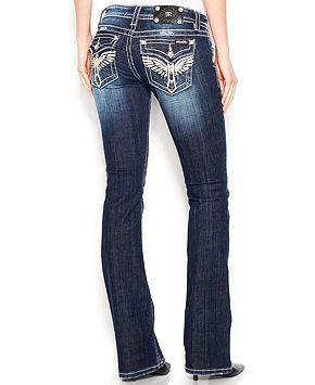b0764a22285 Miss Me Rhinestone Wing Bootcut Jeans - Jeans - Women - Macy's ...