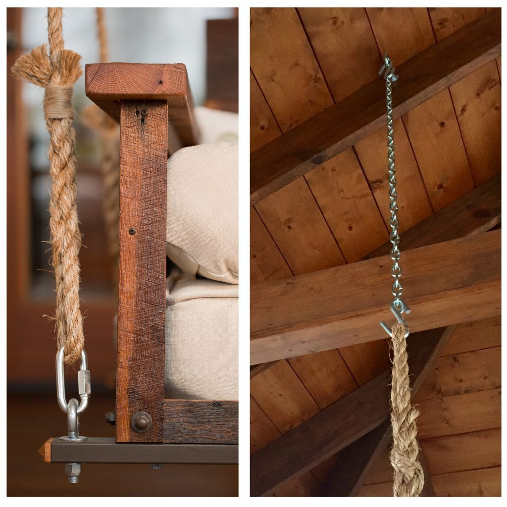 Swing Bed Hanging Rope Bed swing, Porch swing bed