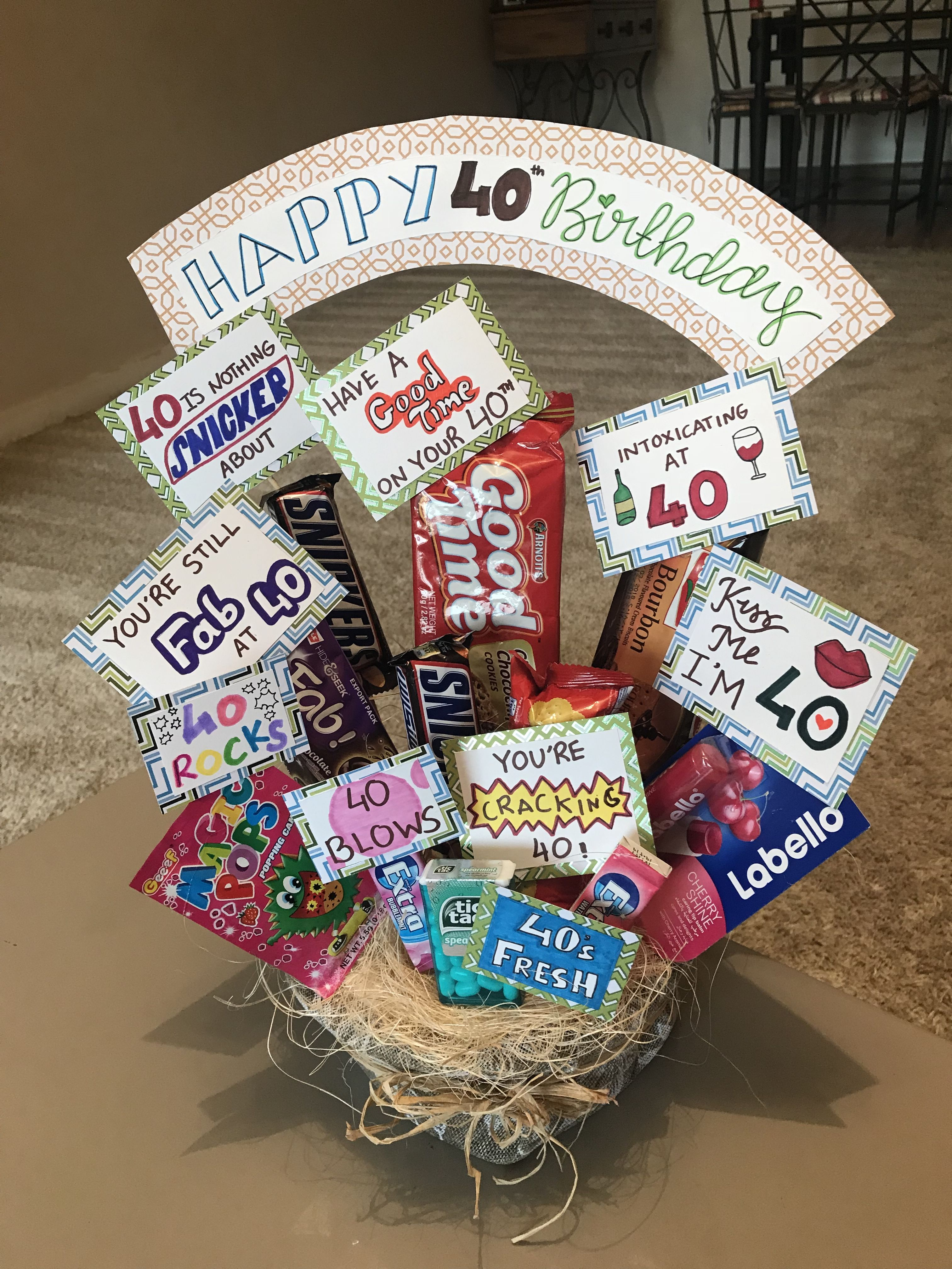 Chocolate bouquet special friend 40th birthday 40th