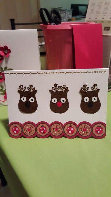 My Christmas  card  making  class