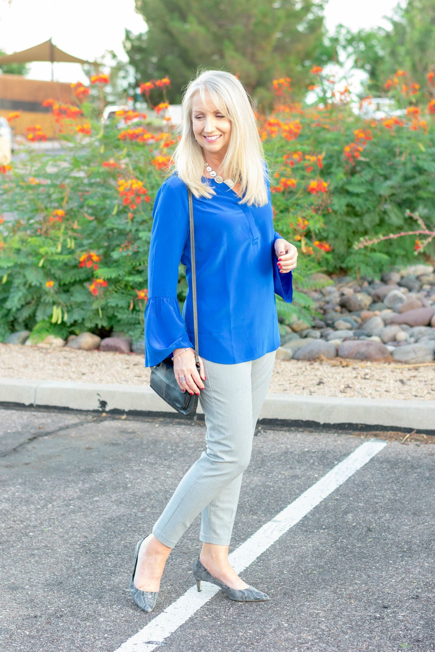 e1c3c0ba75f Working the pull-on pants. Add a pop-over top in a brilliant color ...
