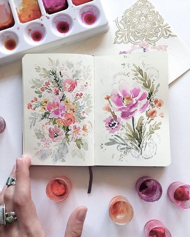 Epingle Par Emilie Alimi Sur Peinture Aquarelle Fleurs Carnets