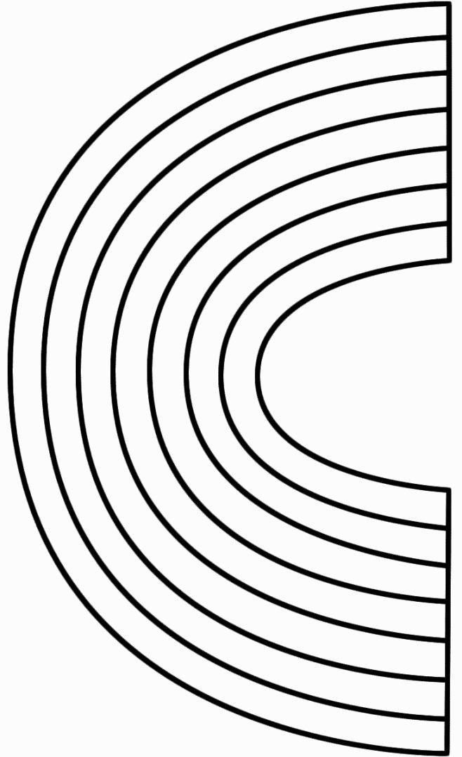 Rainbow Coloring Page With Color Words (With images ...