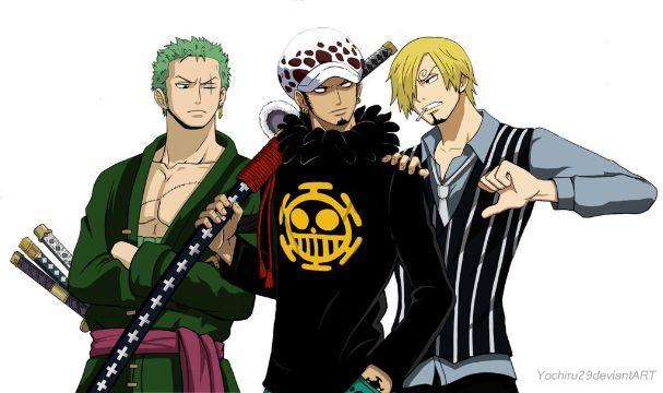 One-shot {Lemon} - {One Piece} Sanji y Law x Zoro