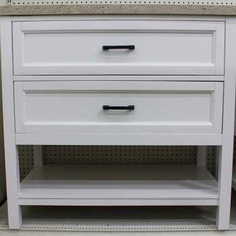 Kitchen Cabinets Liquidation: Georgette White Vanity - Closeout