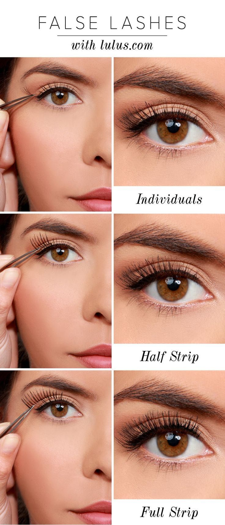 How to apply false eyelashes for the first time with