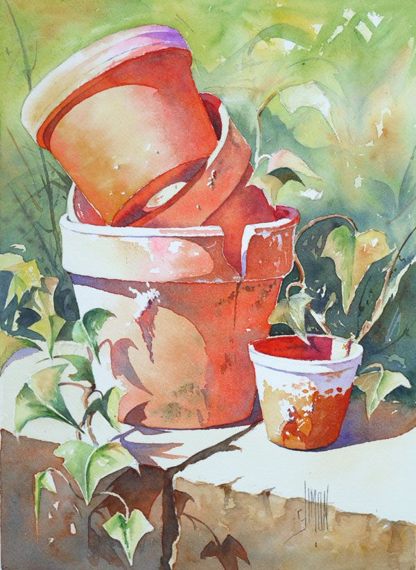 Pot Fleur Optimisation Couleur Pot 11 Painting Pinterest