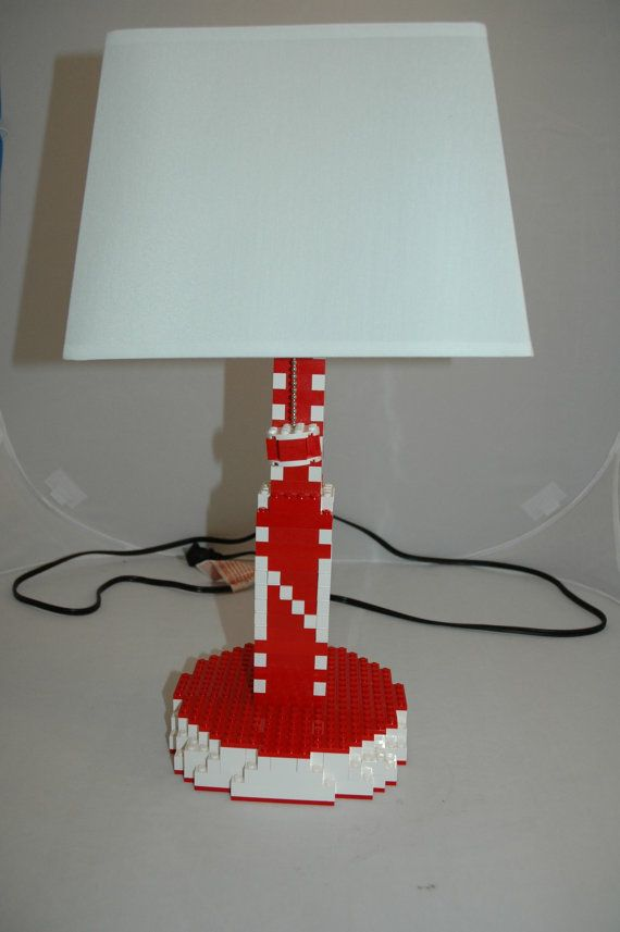 Husker And Other Themed Lamps From Mr Brick Designer On Etsy Lego Lamp Lamp Novelty Lamp