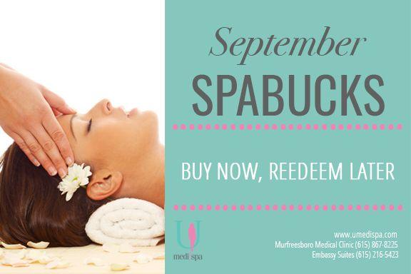 September Spa Bucks Are Here Medispa Body Scrub Spa Specials
