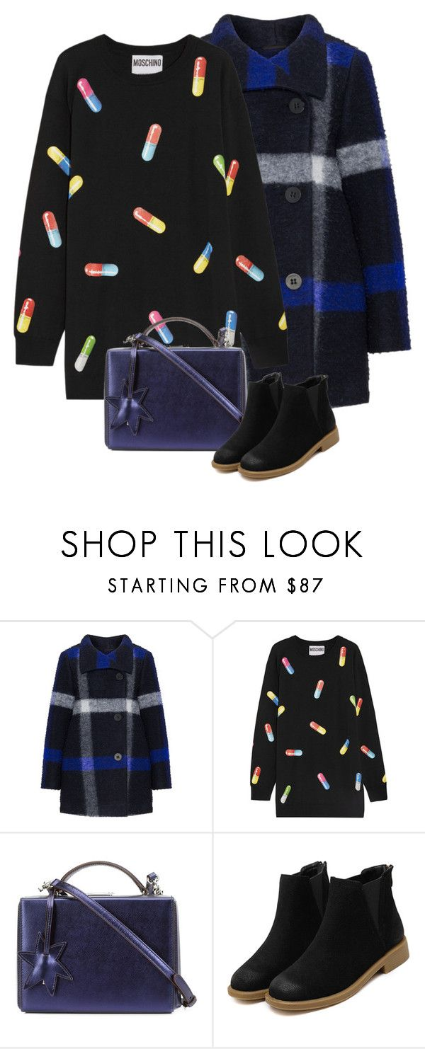 """№42"" by irina-barylchuk ❤ liked on Polyvore featuring Evelin Brandt, Moschino and Mark Cross"