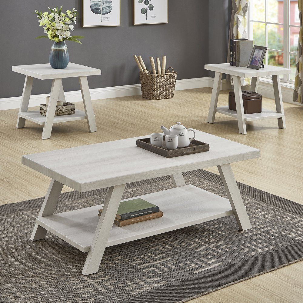 Athens Contemporary Wood Shelf Coffee Table Set In White Finish Walmart Com Walmart Com In 2021 Coffee Table 3 Piece Coffee Table Set Coffee Table Setting [ 1000 x 1000 Pixel ]