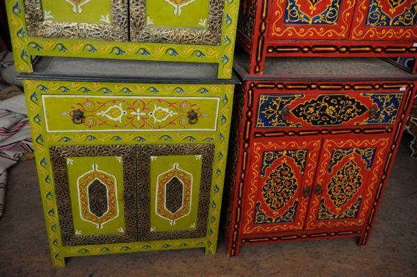 Marokkanische Möbel marokkanische möbel bunte schränke home