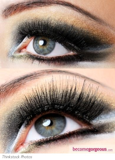 Glam Dark Smokey Eyes Makeup Look.