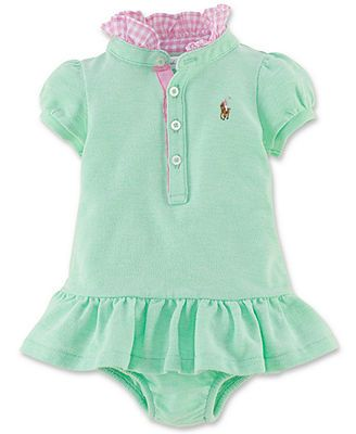 80ec61a1d93 Ralph Lauren Baby Girls' Polo Dress | Baby | Baby girl fashion, Baby ...