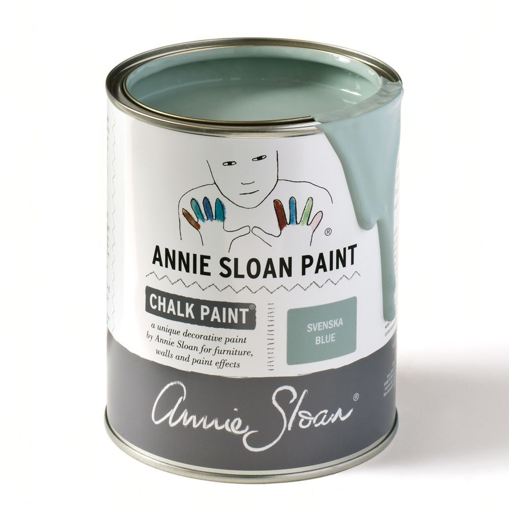 Vernice Chalk Paint Annie Sloan svenska blue (with images)   annie sloan paints, blue chalk