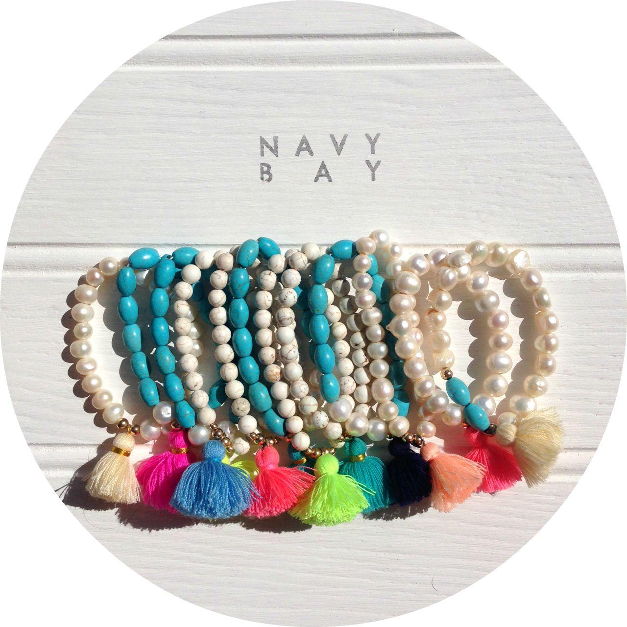 Navy Bay Tassel Beach Jewellery